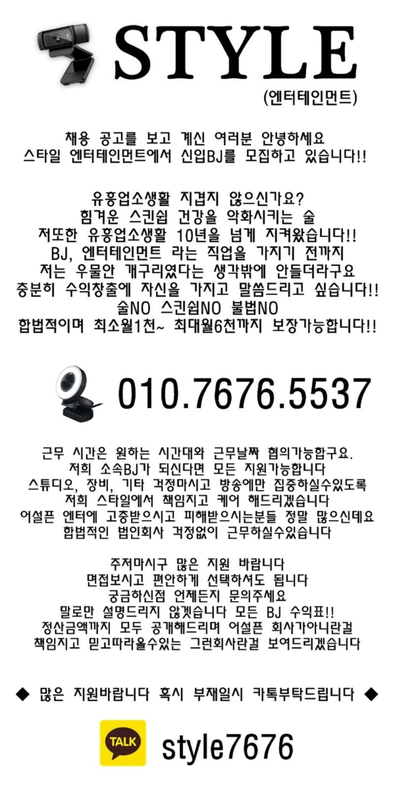 스타일엔터테이먼트 소개글입니다